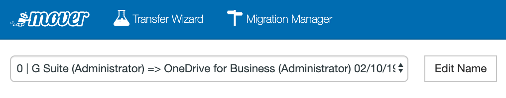 Migration Manager Editing Mover