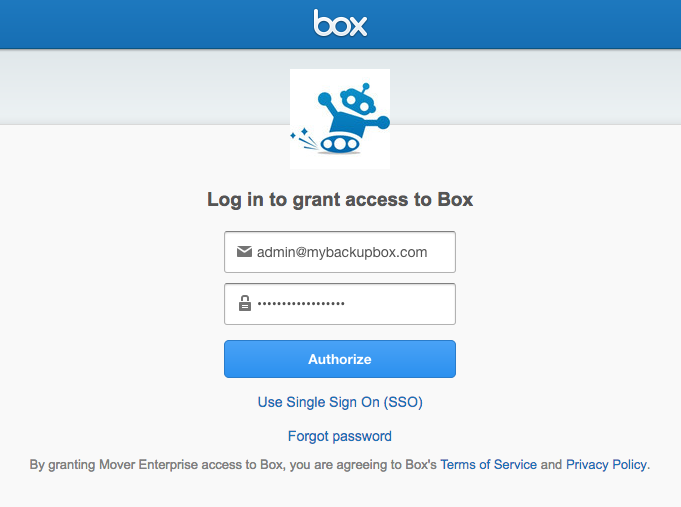 Box login access