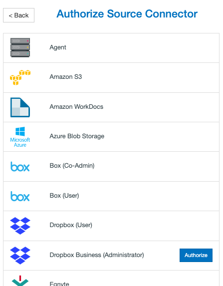 Dropbox Connector List