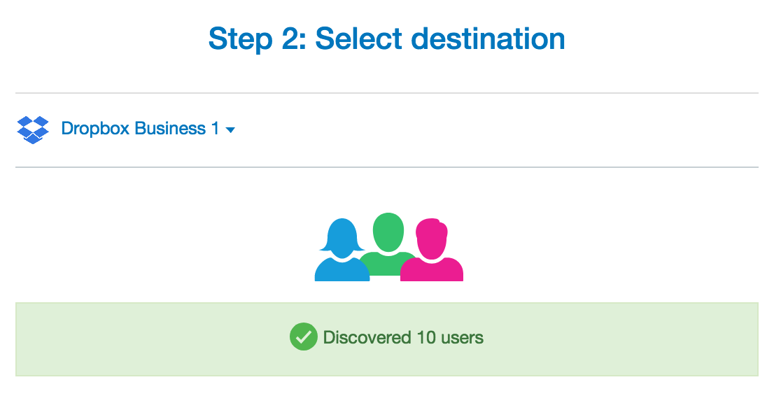 Select Dropbox Destination