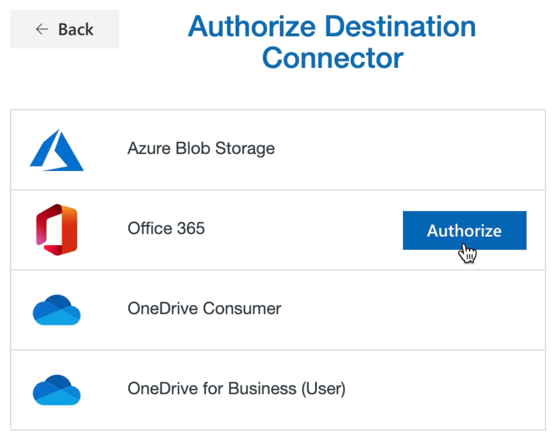Authorize Office 365