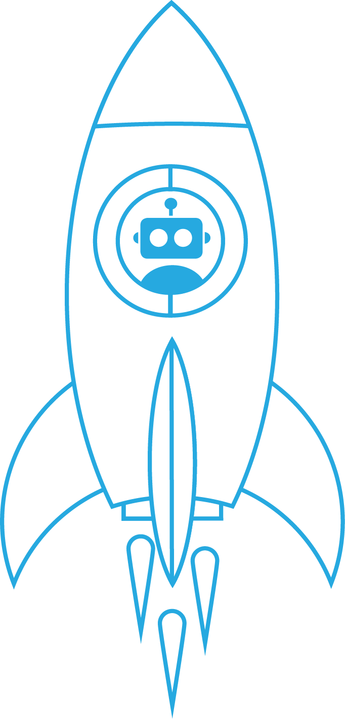 Robot in a rocket